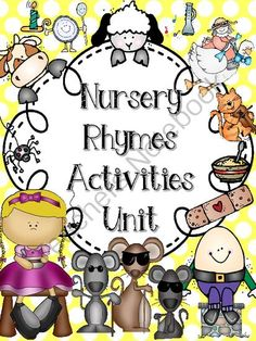 Nursery Rhymes Unit (FREE Mini Book Reader in Preview) from Sparkling in Kindergarten on TeachersNotebook.com -  (112 pages)  -  FREE mini book reader in preview download. Included in Unit:  8 nursery rhyme posters, mini book readers for each nursery rhyme, differentiated sequencing activities, cut & paste sentence activities, bookmarks for each nursery rhyme, headbands to go
