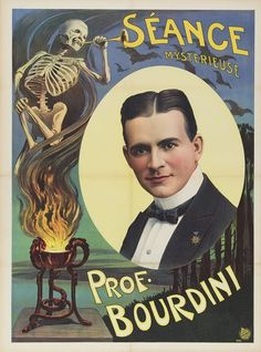 The Crystal Cage Classic 1908 Magic Show Poster Thurston 12x24
