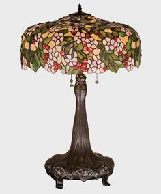 Cherry Blossom Table Lamp 31 inches Tall Tiffany - US $935.75 in Antiques, Decorative Arts, Lamps