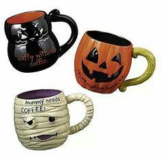 Halloween mugs. Mummy needs coffee.