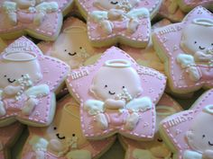 Baby Girl Baptism Cookies