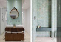 Gekleurde tegels - de trend in de badkamer Toilet, Bathtub, Trends, Bathroom, Image, Standing Bath, Washroom, Flush Toilet, Bathtubs