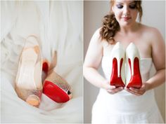 Red Christian Louboutin  http://www.heartloveweddings.com/2012/07/best-red-wedding-ideas/#