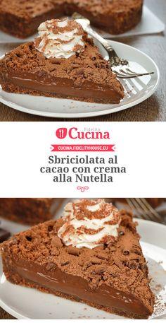 Sbriciolata al #cacao con crema alla #Nutella