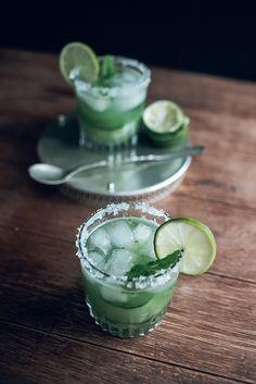 Jet & Indigo | Cucumber, Mint & Lime Margarita Cocktails
