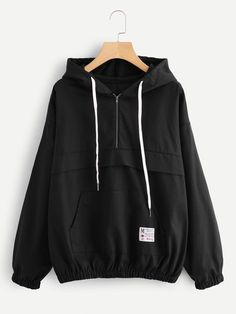 SheIn offers Kangaroo Pocket Elastic Hem Hoodie & more to fit your fashionable needs. Sporty Outfits, Trendy Outfits, Cute Outfits, Hoodie Outfit, Hijab Fashion, Korean Fashion, Fashion Outfits, Hoodie Sweatshirts, Men's Clothing