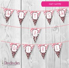 Instant Download  Pink Giraffe Wild Safari It's A by Dindindies, £1.50