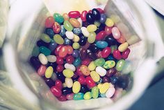 Jelly Belly jelly beans: hundreds of diffrent flavors that all make interesting combinations. I like Pink Lemonade - 1 Cotton Candy + 1 Lemon