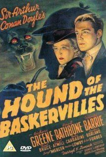 """Reproduction Sherlock Holmes Movie Poster, """"The Hound Of The Baskervilles"""", Vintage Print, Colour, Home Wall Art Sherlock Poster, Sherlock Holmes, Quotes Sherlock, Old Movie Posters, Classic Movie Posters, Classic Horror Movies, Movie Poster Art, Classic Films, Vintage Posters"""