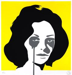 """""""Richard Burton's Nightmare (Second Marriage)"""" - Pure Evil - Pure Evil explains that a Chinese """"copy village"""" gave impetus to his """"nightmares"""". The village offered, via email, a list of artists it could reproduce, including three Andy Warhol prints. The idea of Warhol reduced to three images fascinated Pure Evil and became the inspiration, in concert with Warhol's """"Death and Disaster"""" series, for his ongoing doomed and dripping celebrity portraits. -Stencil Revolution #addictedgallery…"""