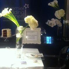 Our #wedding exhibit at Cameron House #lochlomond #scotland   #flowers #hydrangea #orchids #calla #lillies #ghost #chair #candles #redvelvet #cake #charbonneletwalker #chocolates