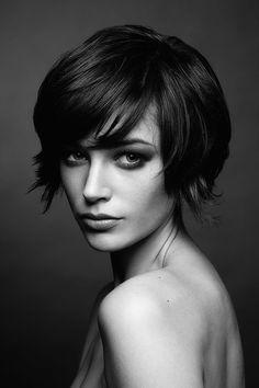Like this short hair style. Photo by Julia Kiecksee