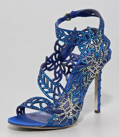 No better way to describe the Sergio Rossi Crystalized Satin Floral Sandal – this design is jewelry for your tootsies!