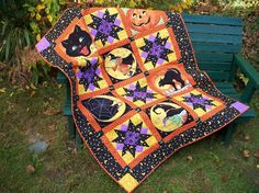 "Check out this gorgeous Halloween quilt made by Craftsy member @pd13jd. Have you ever tried quilting a Halloween blanket? Visit Craftsy's site now to view this beautiful quilt and click ""Save Project"" at the top of the page to store for future inspiration!"