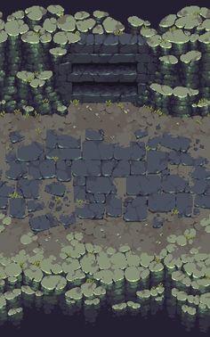 Dungeon / Cavern tiles in pixel art Environment Concept Art, Environment Design, Arte 8 Bits, Pixel Art Background, Modele Pixel Art, Pix Art, Pixel Art Games, Pixel Design, Game Concept Art
