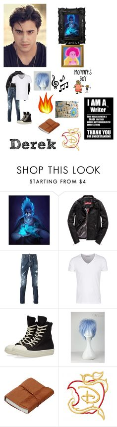 """""""The Wonderful World Of Disneyland: Derek The Son of Hades and Persephone"""" by angierae101 ❤ liked on Polyvore featuring Superdry, Dsquared2, DRKSHDW, OC, disneyhigh, Descendants, syoc and disneydescendants"""