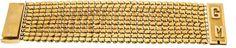 Armband GG 900/000, Kastenschließe mit Monogramm GM, L. 17 cm, B. 40 mm, 113,2 g — Schmuck