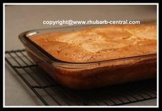 Easy Rhubarb Cake Recipe uses a Cake Mix to make a quick cake for tea time, snack or dessert.