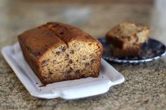 Peanut Butter Banana Bread With Chocolate Chips - Diana Rattray