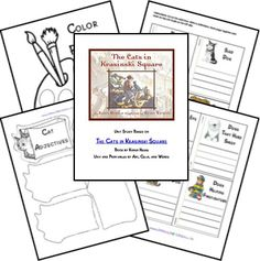 The Cats in Krasinkski Square Unit Study Lesson FREE Lapbook Printables Five In A Row, World Geography, Mentor Texts, Unit Studies, School Themes, Home Schooling, Summer School, Teaching Reading, Preschool Activities