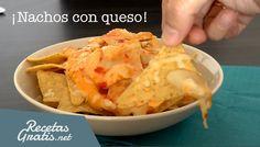 Nachos con queso fundido - Receta fácil y rápida