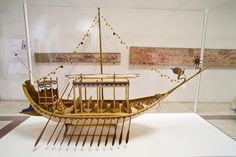 Model of a prehistoric, Minoan ship
