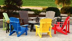 Poly Outdoor Furniture | Yoder Woodcrafters Wytheville Virginia I love the colors of this awesome set!  Made from maintenance free recycled plastic with a lifetime warranty!!