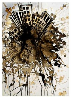 A painting I created a while back with coffee and india ink.