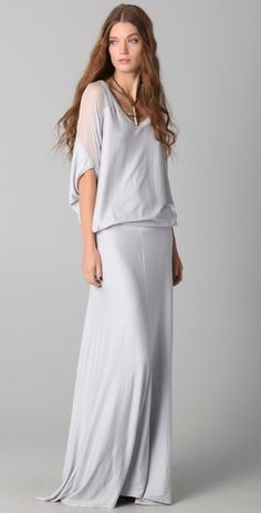 heather- balloon maxi dress  196.00... i think this could be beautiful on my bridesmaids