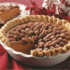 Need sweet potato pie recipes? Get sweet potato pie recipes for your next meal or gathering. Taste of Home has many sweet potato pie recipes including easy sweet potato pie, southern sweet potato pie, and more sweet potato pie recipes and ideas. Sweet Potato Pecan Pie, Potato Pie, Sweet Potato Recipes, Potato Cakes, Pecan Recipes, Pumpkin Recipes, Pie Recipes, Dessert Recipes, Fall Recipes