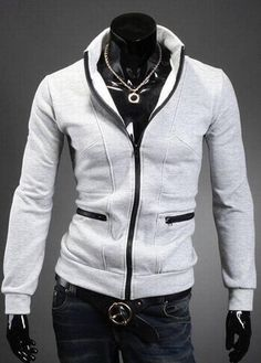 2015 New Fashion Streetwear College Style Men's Stripe Fitness Cotton Stand Collar Sweatshirt Casual Clothes Male Thick Jacket(China (Mainland)) Mens College Fashion, Mens Fashion, Collared Sweatshirt, Sweater Hoodie, Best Winter Jackets, Cheap Coats, China Fashion, The Ordinary, Streetwear Fashion