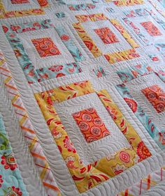 een leuke jellyroll quilt in zomerse kleurtjes!