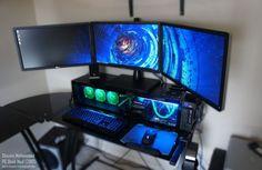 Maximum PC | This Scratch-Built, Desk-Based PC Mod Looks Great, Runs Cool And Rocks Three Monitors