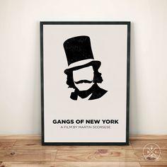 GANGS Of NEW YORK (2002) Martin Scorsese History New York Oscar Minimalist Movie Print Office Inspirational Gift Decor Poster Custom Size
