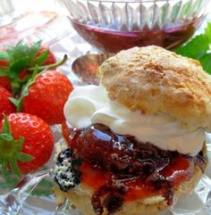 Traditional Devon Cream Tea Strawberry Jam – Strawberry Conserve