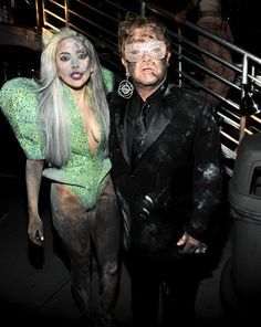 Lady Gaga and Elton John as...zombie versions of themselves?