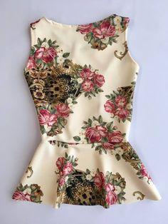 Imagem 3 Floral Fashion, Work Fashion, Fashion Outfits, Womens Fashion, Korean Dress, African Fashion Dresses, Lolita Dress, Sewing Clothes, Blouse Designs