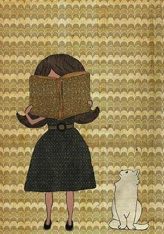 Para Pilar Gómez... bookworm/ personaje fondo patron