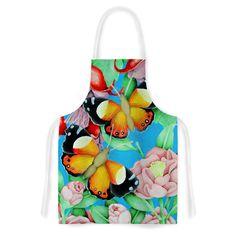 "Vinny Thompson ""Yellow Admiral"" Multicolor Tropical Artistic Apron"