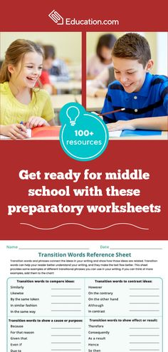 Start the school year on the right foot with these helpful resources for middle school. Contrast Transition Words, Transition Words And Phrases, Sixth Grade Reading, Seventh Grade Math, Reading Stamina, Reading Comprehension Worksheets, Transitional Phrases, Writing Algebraic Expressions, Word Reference