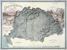 Hydrographic and Topographic Map of the Hungarian Kingdom Hungary History, Old Maps, Bnf, Topographic Map, Historical Maps, Amazing Nature, Music Artists, North America, Vintage World Maps