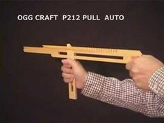 25 rounds PULL-AUTO Rubber Band Sub Machine Gun/ oggcraft.jp - YouTube