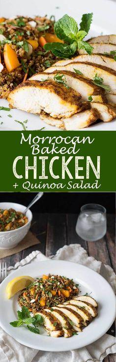 Moroccan Baked Chicken Breast + Quinoa Salad - Eazy Peazy Mealz
