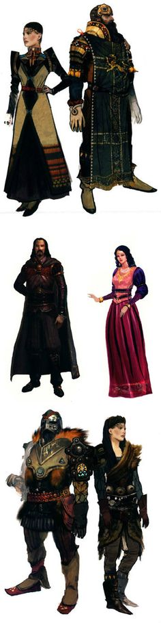 Ferelden fashion, from Dragon Age: The World of Thedas.