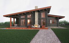 Exterior wood siding small cabins Ideas for 2019 House Roof Design, Small House Design, Cottage Design, Facade House, Cabin Exterior Colors, Exterior Paint Colors For House, Stilt House Plans, Modern Entrance Door, Modern Tropical House