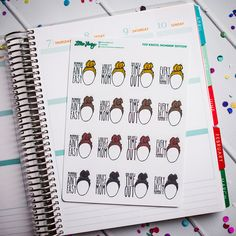 Top Knots: Mommin' Edition FUN-ctional Planner Stickers by Lillie Henry! Set of 16 stickers featuring hand drawn artwork by Lillie Henry!