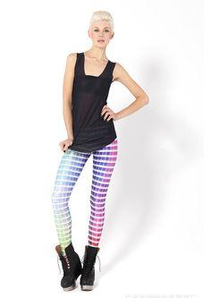 Ensasa Women'S Fashion Digital Print Color Map Spandex Strenchy Leggings