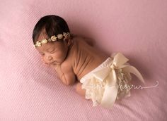 Vintage lace bloomer set cream photography by MyPreciousBoutique