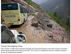 Sichuan-Tibet Highway, China....