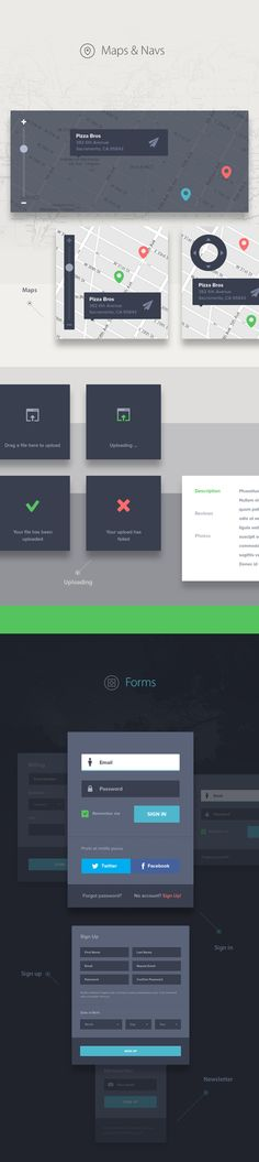 UI kit DARK on Behan